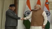 Nepal PM Dahal Calls On PM Modi