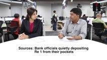 Falling Zero-Balance Jan Dhan Accounts -  The One Rupee Trick