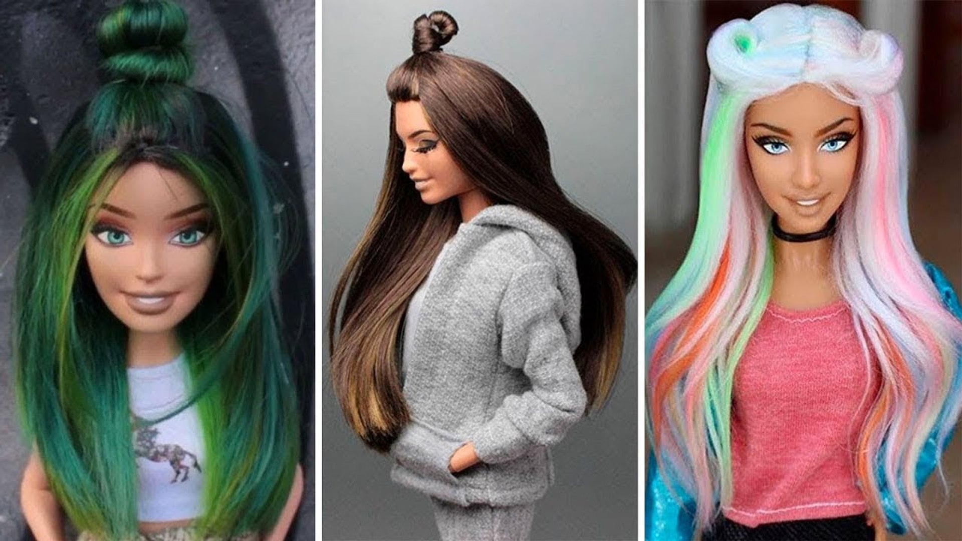 NEW Amazing Barbie Hair Transformations Best Hair for Barbie Dolls