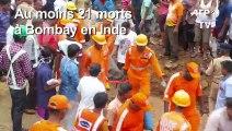 Mousson en Inde: 21 morts dans l'effondrement d'un mur à Bombay