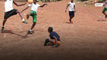 'The only game that makes me happy' - amputee boy from Sierra Leone shows that love for football has no limits