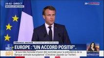 """Postes clés de l'UE: Emmanuel Macron assure que """"cet accord est le fruit d'une entente franco-allemande"""""""