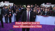 Paul Rudd Will Star in New 'Ghostbusters' Film Directed By Jason Reitman