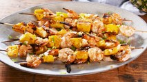 We'll Be Eating These Shrimp & Pineapple Skewers All Summer Long