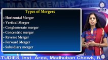 Ms. Sonia Madan || TYPES OF MERGERS || MBA || TIAS || TECNIA TV