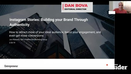 Entrepreneur Insider Video of the Week: Use Instagram Stories to Build Your Brand Through Authenticity