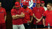 Angels speak to media after emotional win following death of pitcher