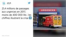 Hôpitaux : 21,4 millions de passages aux urgences en 2017, le nombre de lits sous la barre des 400000