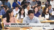 Korea cuts this year's economic growth outlook to between 2.4% and 2.5%