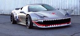 VÍDEO: Ferrari 458 Italia con diseño de tiburón y escapes modificados, ¡qué locura!