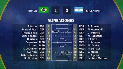 Resumen partido entre Brasil y Argentina Jornada 2 Copa América
