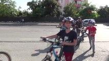 40 bisikletli bisiklet kültürünü yaymak için pedal çevirdi