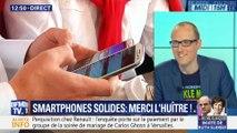 Des smartphones plus solides, grâce aux huitres !