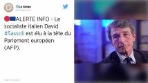 L'Italien David Sassoli élu président du Parlement européen par les eurodéputés