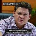 Hugpong endorses Davao City's Isidro Ungab for House Speaker
