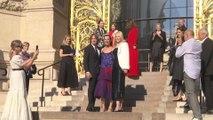 Nicole Kidman, Keith Urban, and Alexander Skarsgard Arrive at Giorgio Armani Privé's PFW Show