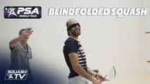 Blindfolded Squash Challenge
