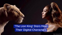 Stars Of 'The Lion King' Meet Their Digital Counterparts