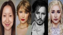 Best makeup transformation into celebrities - video dailymotion