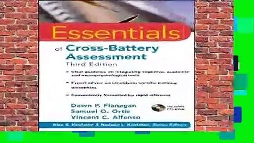 Full version  Essentials of Cross-Battery Assessment (Essentials of Psychological Assessment)