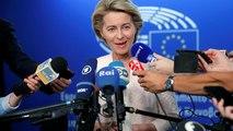 Ursula von der Leyen sollicite les euro-députés à Strasbourg