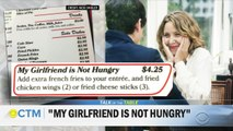 """Restaurant goes viral with """"My Girlfriend is Not Hungry"""" menu option"""