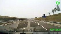 Il s'endort au volant de sa voiture en pleine autoroute et sa dashcam filme sa sortie de route