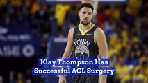 Klay Thompson Is Recovering From ACL Surgery