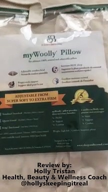 Wellness Coach Holly Tristan –  Sleep & Beyond myWoolly wool pillow review