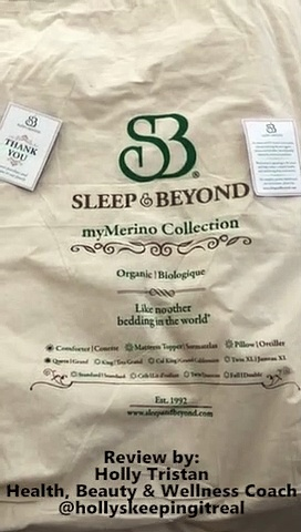Wellness Coach Holly Tristan –  Sleep & Beyond myMerino comforter review