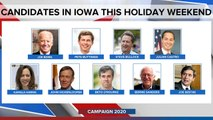 Candidates plan early state blitz over holiday weekend