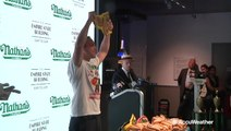 The heat can't stop Joey Chestnut, the hot dog champ
