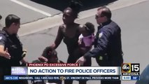 Phoenix says it cannot fire officers who confronted black couple