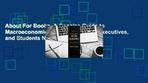 About For Books  A Concise Guide to Macroeconomics: What Managers, Executives, and Students Need