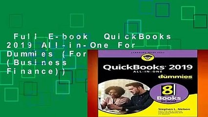 Full E-book QuickBooks 2019 All-in-One For Dummies (For Dummies (Business  Personal Finance))