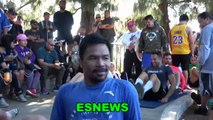 Manny Pacquiao Pushing His Team To Work Hard As He Gets Ready For Thurman