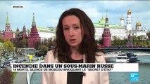 """14 morts dans un sous-marin nucléaire russe : """"secret d'état"""" invoque la Russie"""