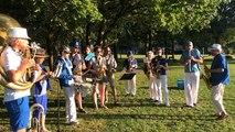La fanfare Zingueur's Band répète à Creac'h Gwen