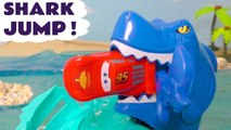 Hot Wheels Shark Jump with Disney Pixar Cars 3 Lightning McQueen and Transformers Bumblebee in this family friendly full episode english toy story for kids