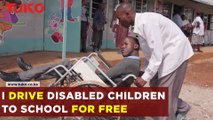 The driver taking disabled children to school for free