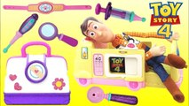 Disney Pixar TOY STORY 4 Woody Visits Toy Hospital Doc Mcstuffins with Jessie