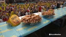 Contestants Gear Up for Nathan's Hot Dog Eating Competition