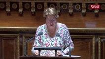 Marie-PierreMonier, sénatricePS, plaide contre le PJL école de la confiance