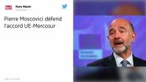 Accord UE-Mercosur : Pierre Moscovici défend l'accord sur tous les plans