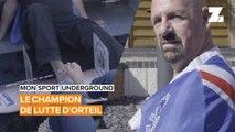 Mon sport underground: le champion de lutte d'orteils