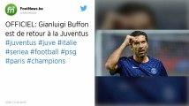 Mercato : Gianluigi Buffon fait son retour à la Juventus Turin