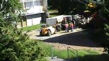 Chantier Ploufragan camion renversé