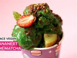 Glace Vegan: banane et thé matcha