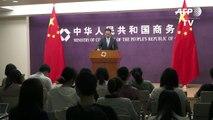 China exige suspensão de tarifas americanas