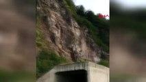 ARTVİN Karadeniz Sahil Yolu'nda heyelan korkuttu